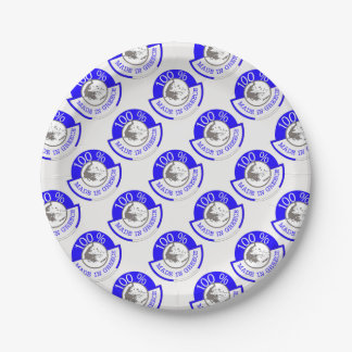 GREECE 100% CREST 7 INCH PAPER PLATE