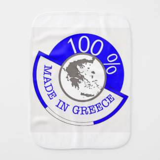 GREECE 100% CREST BURP CLOTHS