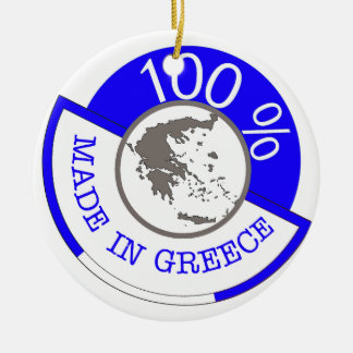 GREECE 100% CREST CERAMIC ORNAMENT
