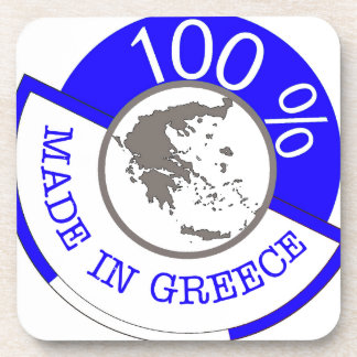 GREECE 100% CREST COASTER