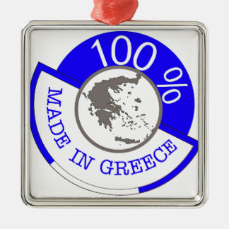 GREECE 100% CREST METAL ORNAMENT