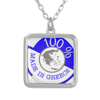 GREECE 100% CREST SILVER PLATED NECKLACE