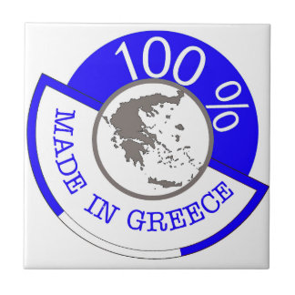 GREECE 100% CREST SMALL SQUARE TILE