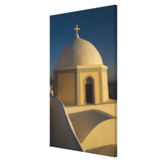 Greece and Greek Island of Santorini town of 2 Gallery Wrap Canvas