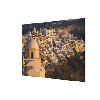 Greece and Greek Island of Santorini town of Canvas Print
