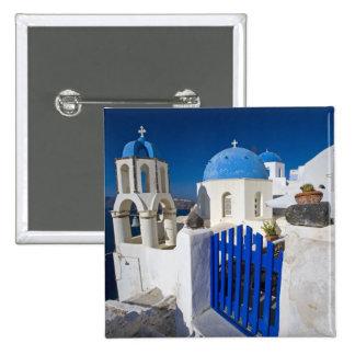 Greece and Greek Island of Santorini town of Oia 3 15 Cm Square Badge