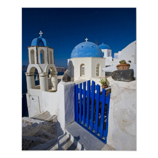 Greece and Greek Island of Santorini town of Oia 3 Poster
