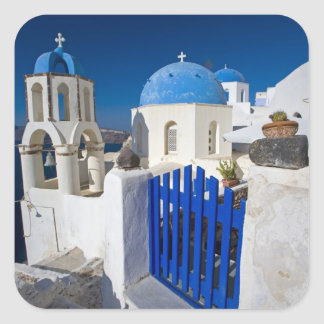 Greece and Greek Island of Santorini town of Oia 3 Square Sticker