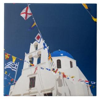 Greece and Greek Island of Santorini town of Oia 4 Ceramic Tile