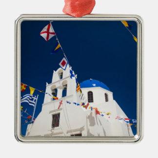 Greece and Greek Island of Santorini town of Oia 4 Metal Ornament