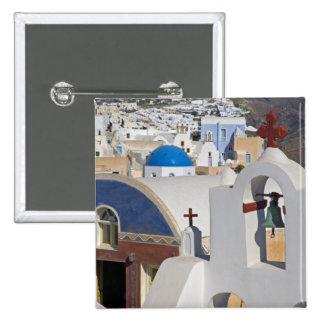 Greece and Greek Island of Santorini town of Oia 5 15 Cm Square Badge
