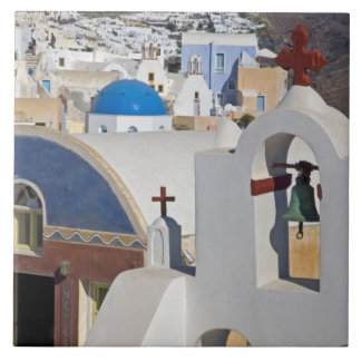 Greece and Greek Island of Santorini town of Oia 5 Large Square Tile