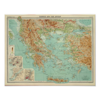 Greece and the Aegean Poster