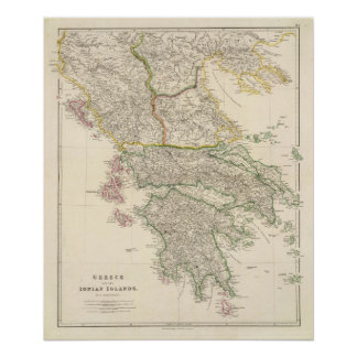 Greece and the Ionian Islands Poster