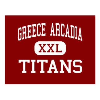 Greece Arcadia - Titans - High - Rochester Postcard