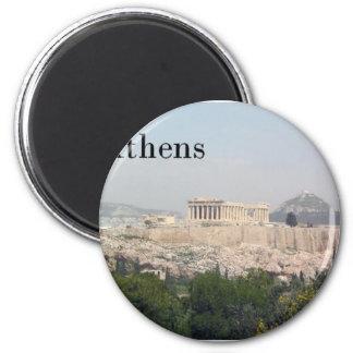 Greece Athens Acropolis 6 Cm Round Magnet