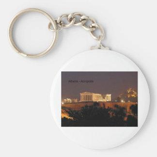 Greece - Athens - Acropolis (by St.K) Basic Round Button Key Ring