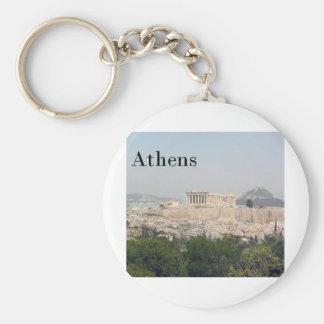 Greece Athens Acropolis Basic Round Button Key Ring