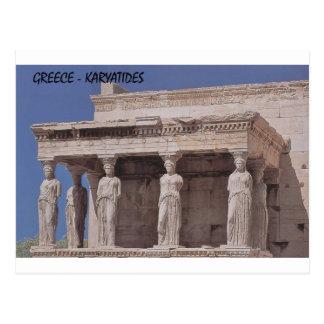 Greece Athens Parthenon-karyatides (St.K) Postcard