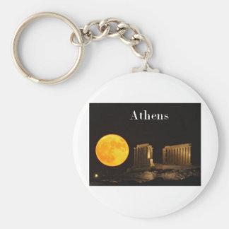 Greece Athens (St.K) Basic Round Button Key Ring