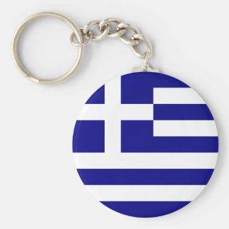 greece basic round button key ring