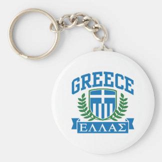 Greece Basic Round Button Key Ring