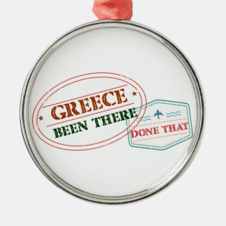 Greece Been There Done That Silver-Colored Round Decoration