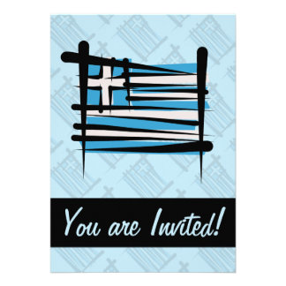 Greece Brush Flag Card