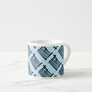 Greece Brush Flag Espresso Cup