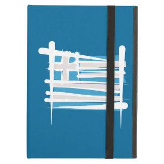 Greece Brush Flag iPad Cases