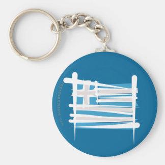 Greece Brush Flag Keychain