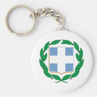 Greece coat of arms basic round button key ring