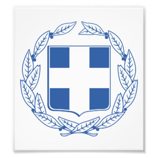 Greece Coat Of Arms Photograph
