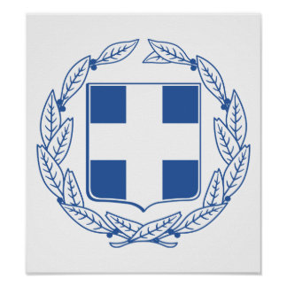 Greece Coat Of Arms Poster
