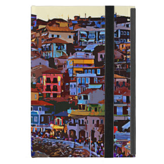 Greece colorful building beach iPad mini case
