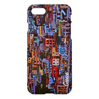 Greece colorful building beach iPhone 7 case