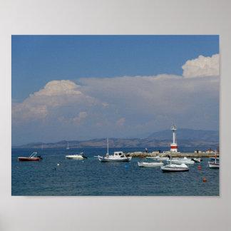 Greece, Corfu, Old Lighthouse, Poster
