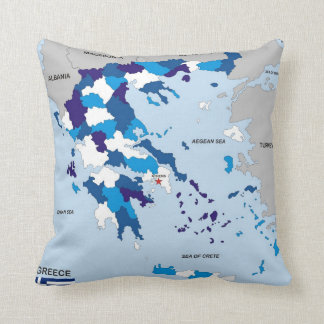 greece country political map flag greek cushion