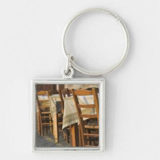 GREECE, CRETE, Hania Province, Hania: Venetian 5 Silver-Colored Square Key Ring