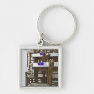 GREECE, CRETE, Hania Province, Hania: Venetian Silver-Colored Square Key Ring