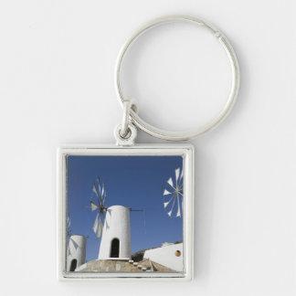 GREECE, CRETE, Iraklio Province, Ano Kera: Silver-Colored Square Key Ring