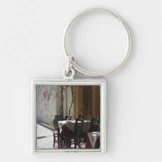GREECE, CRETE, Rethymno Province, Rethymno: Old 2 Silver-Colored Square Key Ring