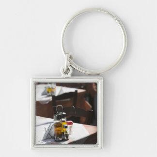 GREECE, CRETE, Rethymno Province, Rethymno: Old Silver-Colored Square Key Ring