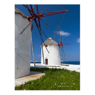Greece, Cyclades Islands, Mykonos, Old windmills 2 Postcard