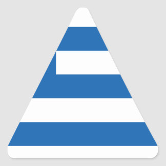 greece design triangle sticker