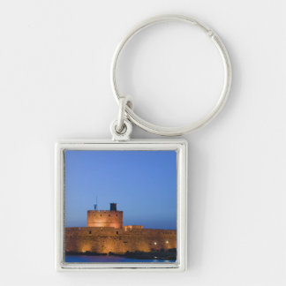 GREECE, Dodecanese Islands, RHODES, Rhodes Town: Silver-Colored Square Key Ring