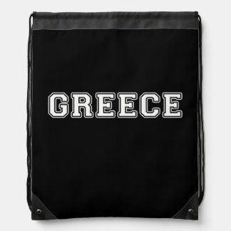 Greece Drawstring Bag