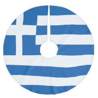 Greece Flag Brushed Polyester Tree Skirt