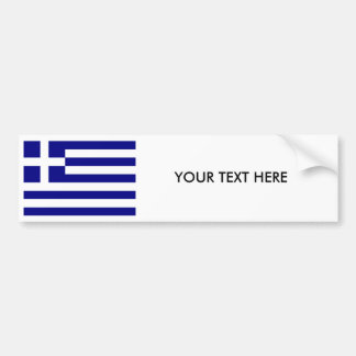 GREECE FLAG Bumper Sticker
