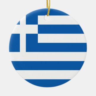 Greece Flag Ceramic Ornament